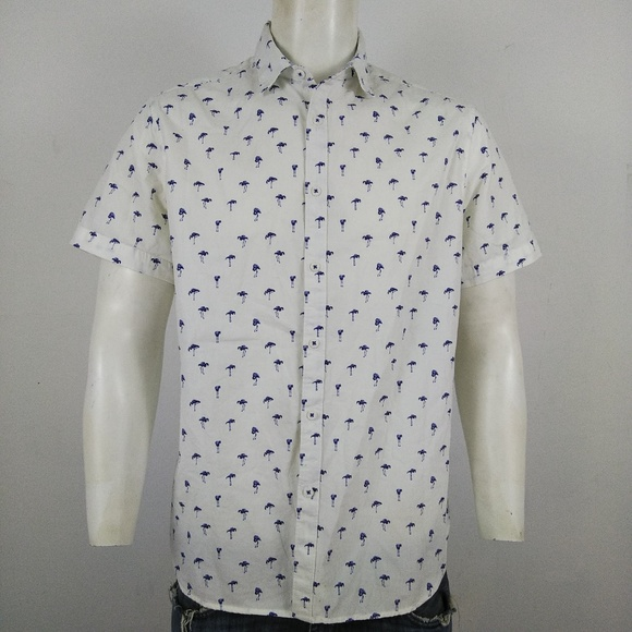 931ec07632b Denim   Flower Other - Denim   Flower blue flamingos men s shirt
